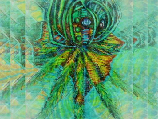 Flor do mangue em progresso> Marsailhe Azevedo