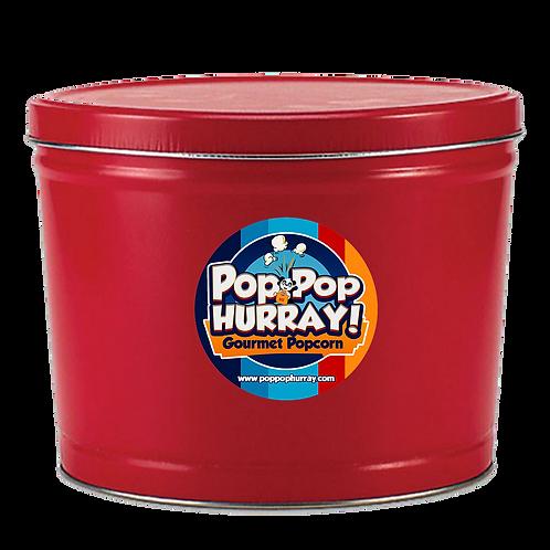 Premium Flavors Popcorn Tin