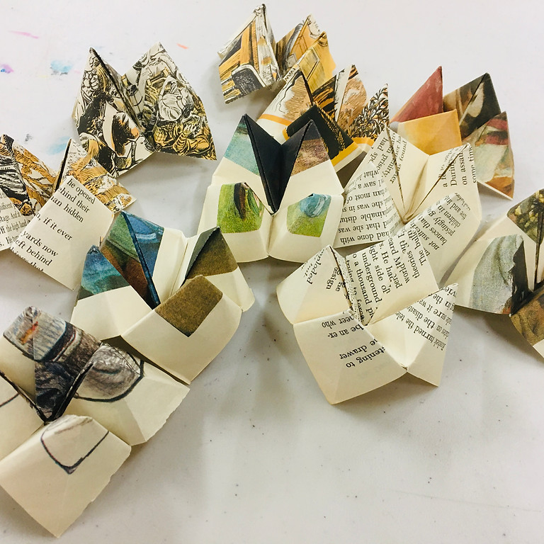 On The Edge Of .. An exhibition of artworks created from recycled books , 22nd May - 6 June