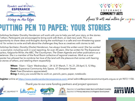Putting Pen to Paper workshops