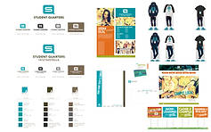 Student Quarters: Logo Revision, Branding Package
