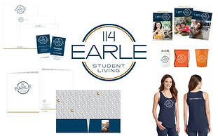 114 Earle Student Living: Property Naming, Logo Design and Branding Package