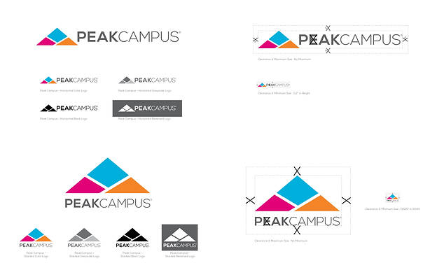 Peak Campus: Logo and Branding
