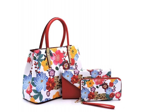 Satchel Flower Leopard 3-in1