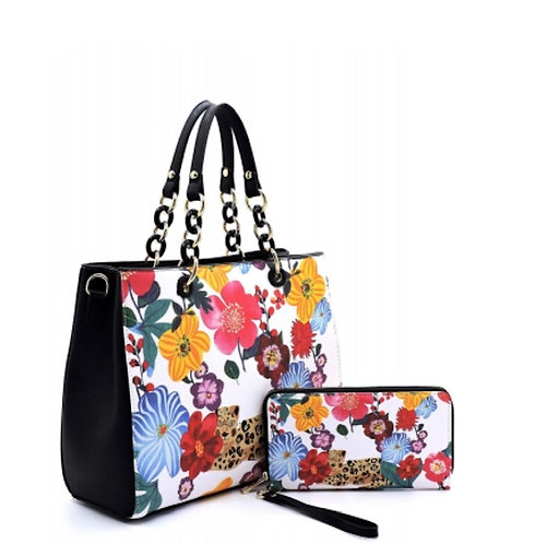 Flower Leopard 2-in1 Satchel