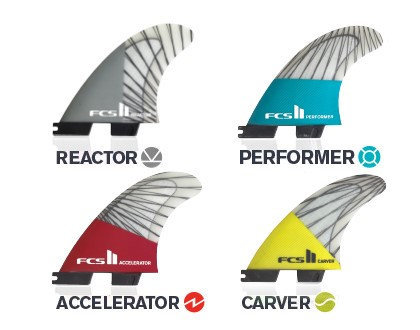 FCS II PC Carbon Replacement Tri Fins