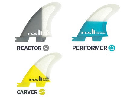 FCS II PC Replacement Quad Rear Fins