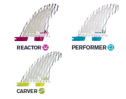 FCS II PC Carbon Replacement Quad Rear Fins