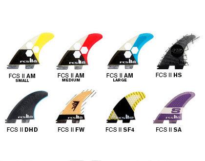 FCS II Shaper Series Replacement Tri Fins
