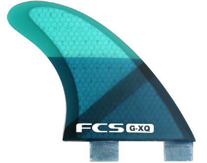 FCS G-XQ Rear Set (Blue/Clear)