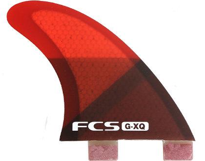 FCS G-XQ Rear Set (Red/Clear)