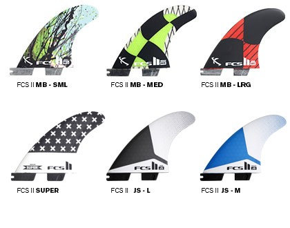 FCS II Shaper Series II Replacement Tri Fins