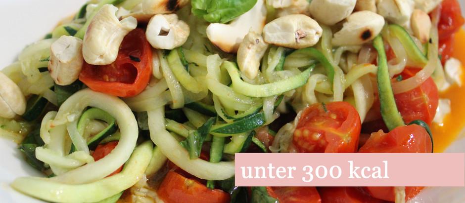 Zucchini-Spaghetti, weniger Kohlenhydrate als klassische Nudelgerichte