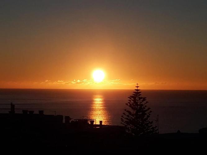 Lever de soleil sur Luz