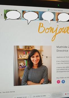 E-learning avec Mathilde Zaragoza