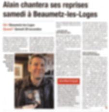 SPECTACLE ALIN LE CHATEU BEAUMETZ LES LOGES