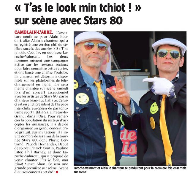 ALAIN LE CHANTEUR LAROCHE VALMONT avec STARS 80