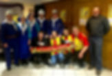 LES GUEULES NOIRES de LIEVIN en compagnie d'ALAIN LE CHANTEUR et des Supporters du RACING CLUB DE LENS