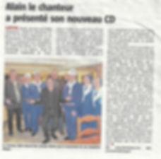 ALAIN LE CHANTEUR SOLEIL DES HAUTS DE FRANCE