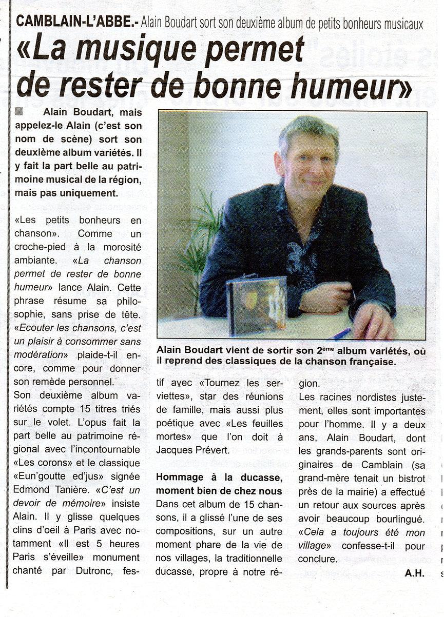 CD ALAIN LE CHANTEUR, LES PETITS BONHEURS EN CHANSON