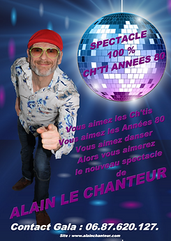 spectacle alain le chanteur 100% CHTI AN