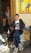 ALAIN E CHANTEUR et son chien BEAUCERON