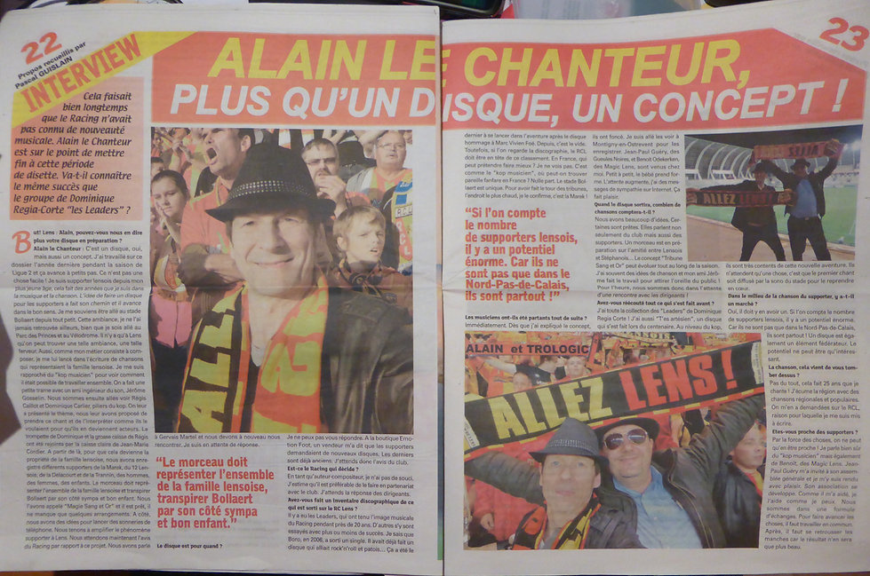 ARTICLE BUT LENS ALAIN LE CHANTEUR