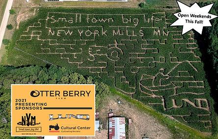 corn maze 2021 otter berry farm Minnesota