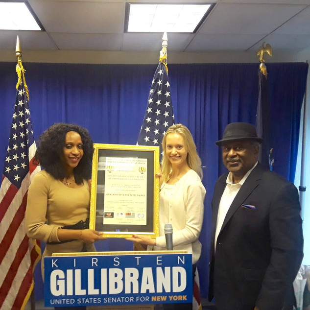 Award given to Senator Kirsten Gilibrand