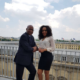 With  Deputy Gabriel Servile  at the French parliament ( Paris)