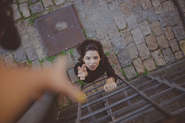 high-angle-photo-of-woman-on-ladder-2467