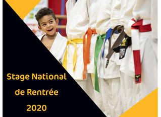 STAGES NATIONAUX DE RENTRÉE