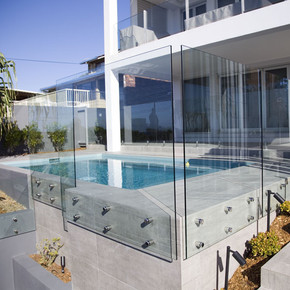Face-fixed glass Noosa