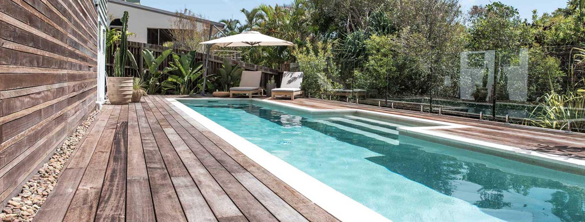 Pool area fence