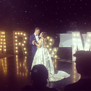 KMS Hire - Suffolk giant MR & MRS light up letter wedding hire