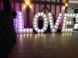 KMS Hire giant LOVE letter lights