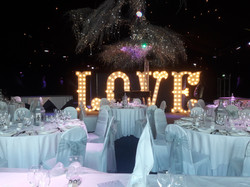 KMS Hire's 7ft Tall LOVE Lights