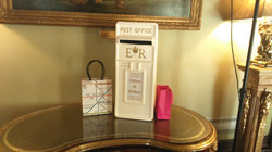 KMS Hire cream traditional postbox