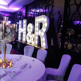 KMS Hire - London giant letter light wedding hire