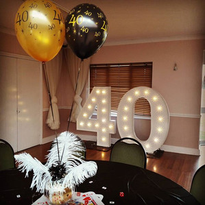 KMS Hire - Essex giant light up number hire for parties, birthdays, anniversaries and events