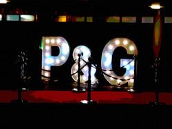 P&G initial letter lights
