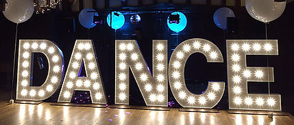 KMS Hire Giant White DANCE lights for hire