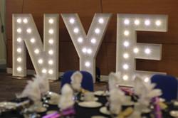 KMS Hire's NYE letter lights