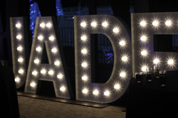 KMS Hire giant light up letters hire