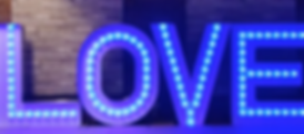 KMS Hire's 5ft tall Colour Changing LOVE Light Up Letters available for hire