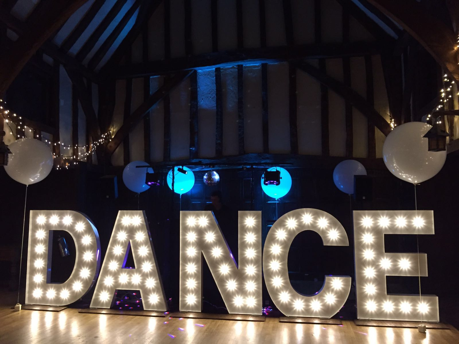 Kms Hire Surrey Giant Light Up Dance Letter Lights Wedding Hire
