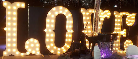 KMS Hire 7ft Tall LOVE Lights ligh at Friern Manor giant light up letters for hire largest in the country