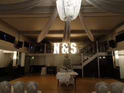 KMS Hire giant light up initials