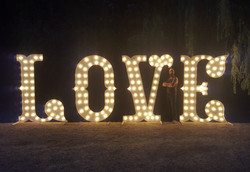 KMS Hire 7ft tall LOVE letter lights