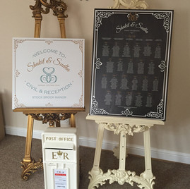KMS Hire - Essex Wedding Traditional Style Card Postbox and Easel Hire